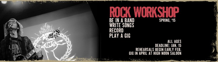We still have openings for Spring Rock Workshop