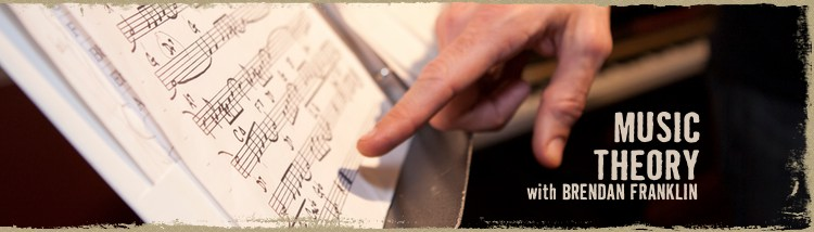 Class is on! Intro to Music Theory with Brendan Franklin on October 19th.